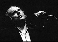 Van Morrison on stage.