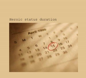 Heroic Status Duration