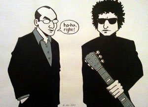 4th piece of artwork for 'Stories…' The Ballad of Bob Dylan