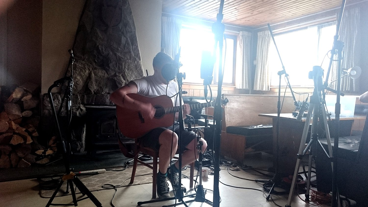 Singer Ross Arthur at the Orchy Sessions
