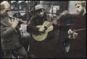 The very early Incredible String Band (l-r Clive Palmer, Mike Heron, Robin Williamson)