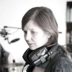 Liz Jones in the recording studio.