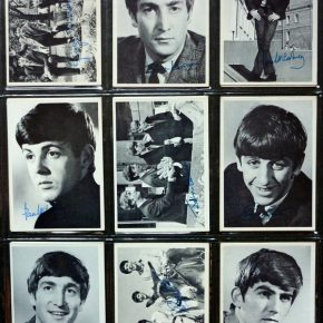 Nine Beatles bubblegum cards
