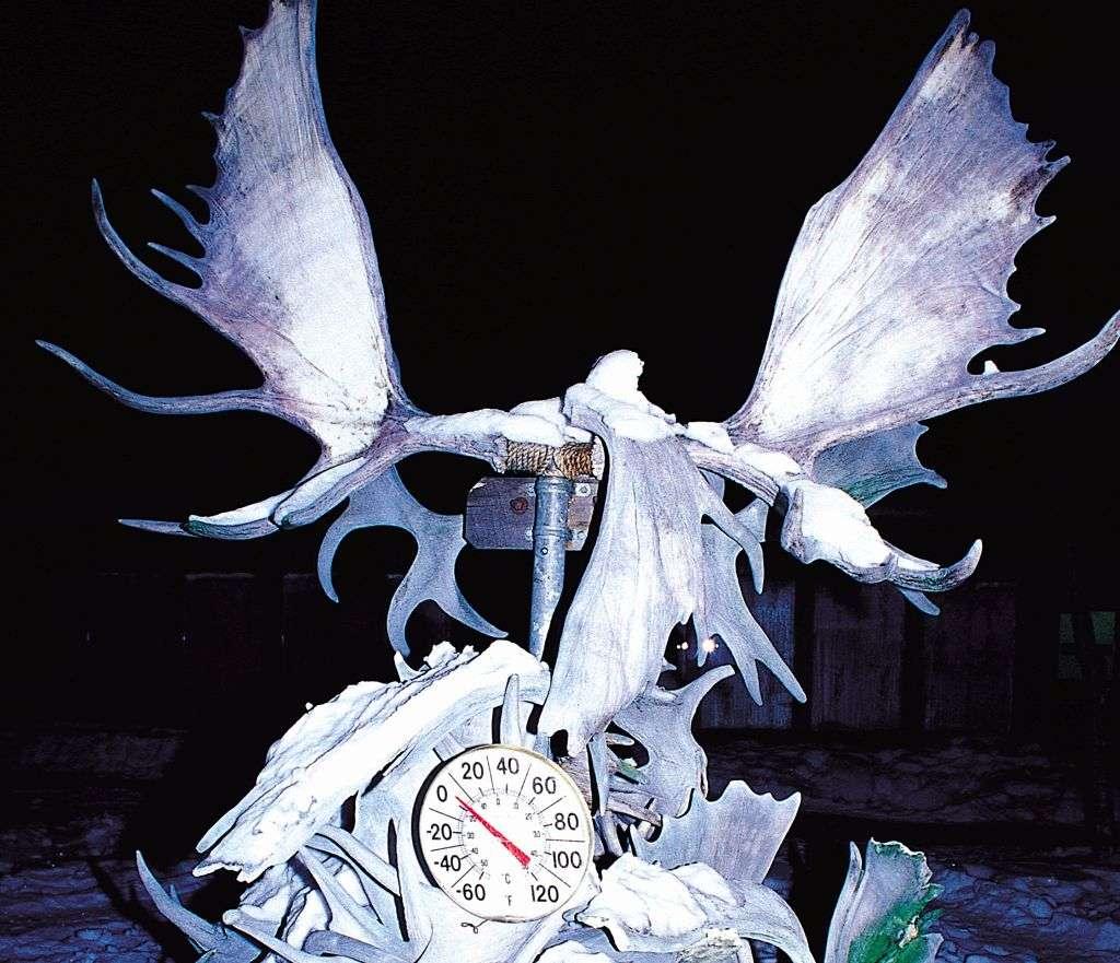 Snow sculpture in Alaska