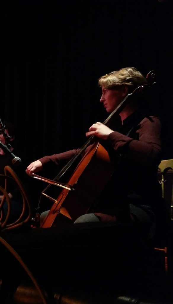 Sarah Whiteside playing cello