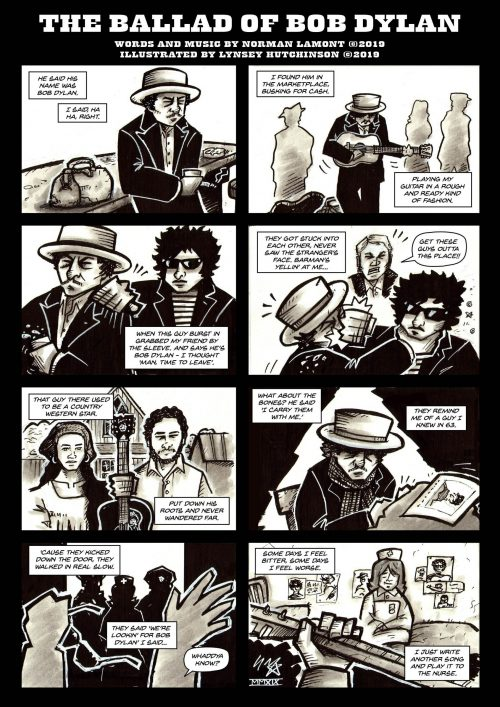 Poster for Ballad of Bob Dylan illustrated by Lynsey Hutchinson