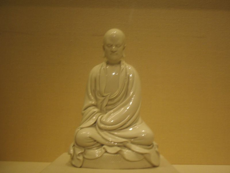 Porcelain statue of Bodhidharma