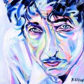 Bob Dylan by Birgit Karacsonyi.