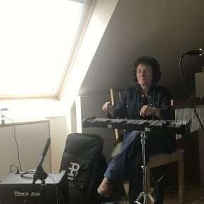 Suzy Cargill playing glockenspiel