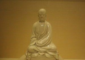 Porcelain statue of Bodhidharma